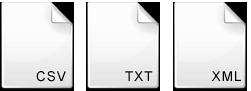 CSV / XML / TXT / JSON / ASCII / API Integrations